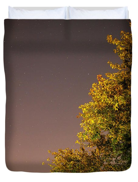 Tree And Stars Duvet Cover
