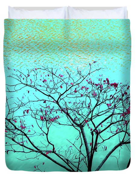 Tree And Water 1 Duvet Cover