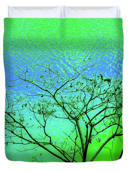 Tree And Water 3 Duvet Cover