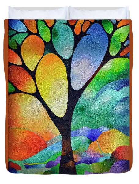 Tree Of Joy Duvet Cover