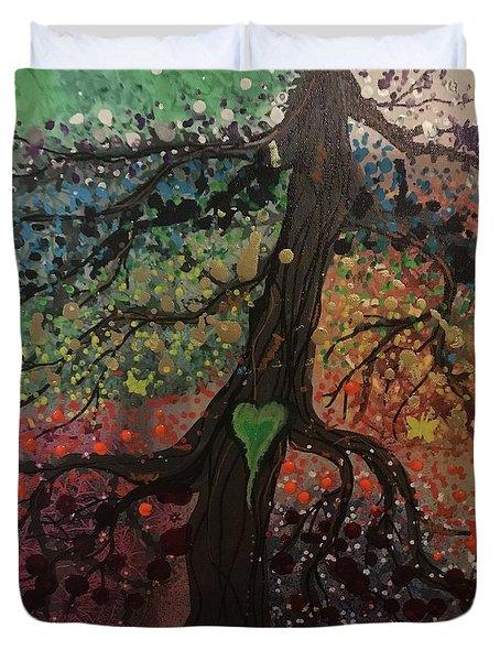 Tree Of Life Chakra Tree Duvet Cover