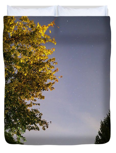 Trees And Stars Duvet Cover