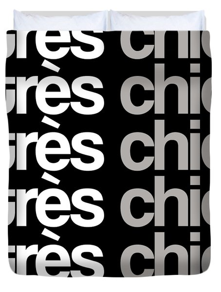Tres Chic - Fashion - Classy, Bold, Minimal Black And White Typography Print - 8 Duvet Cover