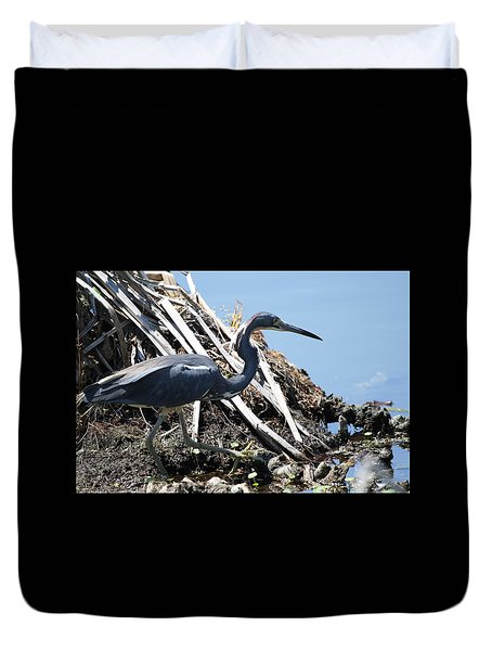 Tri-colored Heron 40312 Duvet Cover