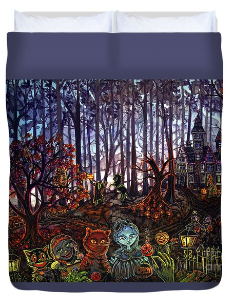 Trick Or Treat Sleepy Hollow Duvet Cover