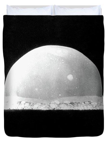 Trinity Nuclear Test Bomb Fireball - 1945 Duvet Cover