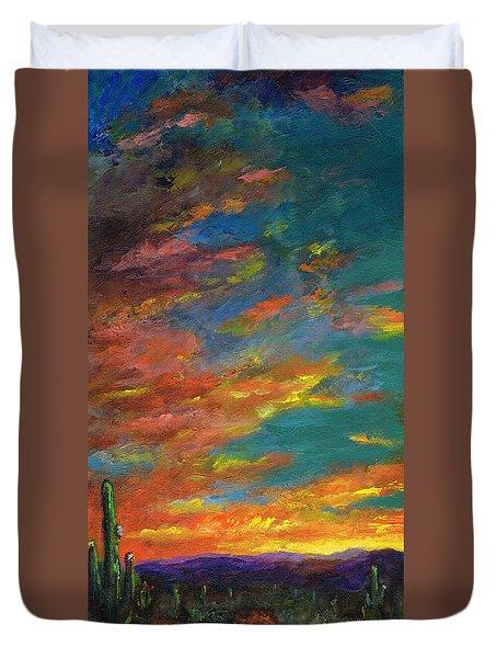 Triptych 1 Desert Sunset Duvet Cover