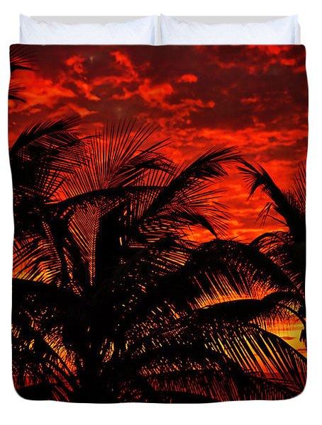 Tropical Sunrise Duvet Cover