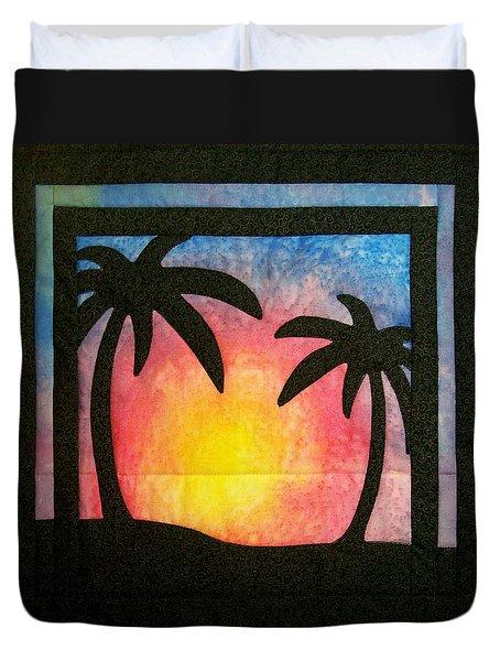 Tropical Sunset Duvet Cover