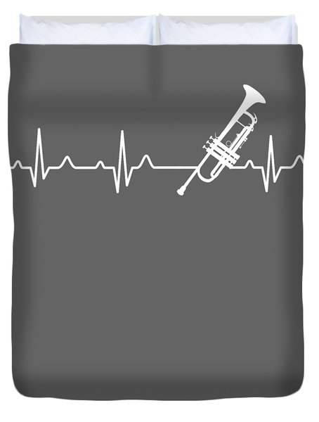 Trumpet Heartbeat For Your Hobbie Tees Duvet Cover
