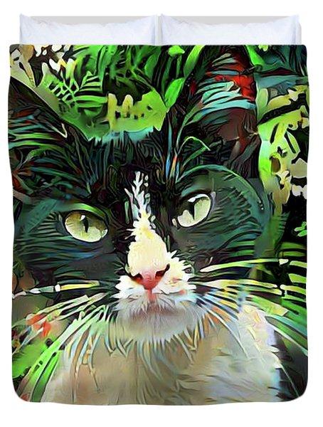 Tucker The Tuxedo Cat Duvet Cover