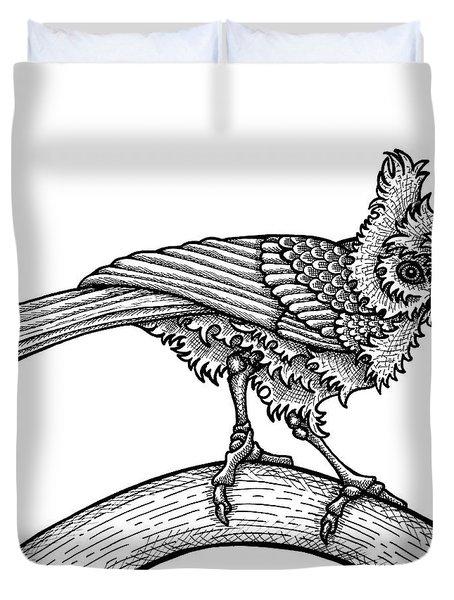 Tufted Titmouse Duvet Cover
