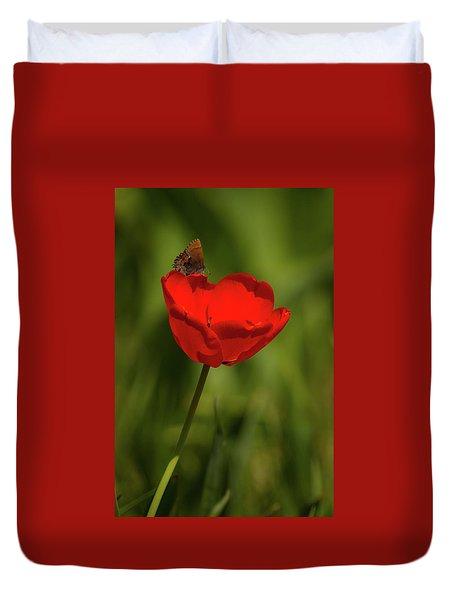 Tulip And Skipper Duvet Cover