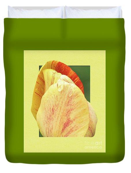 Tulip Petals Escaping Duvet Cover