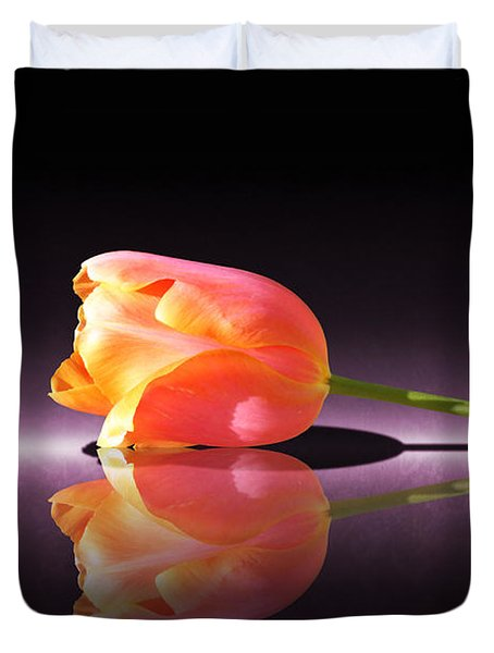 Tulip Reflection Duvet Cover