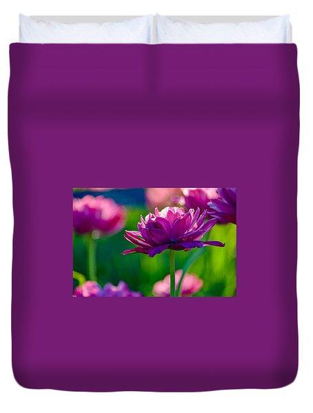 Tulips In Bloom Duvet Cover