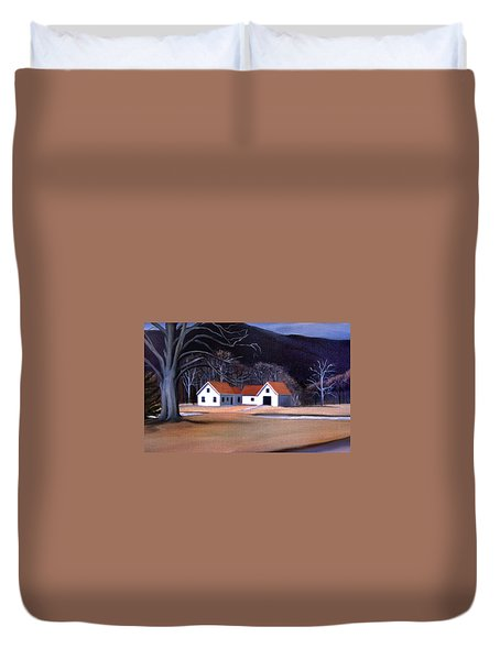Tunnel Farmhouse At Rumney Depot New Hampshire Duvet Cover