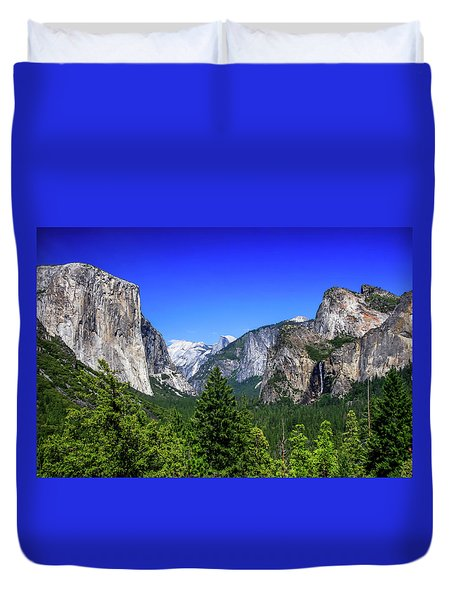 Duvet Cover featuring the photograph Tunnel View Of Yosemite 2 by Dawn Richards