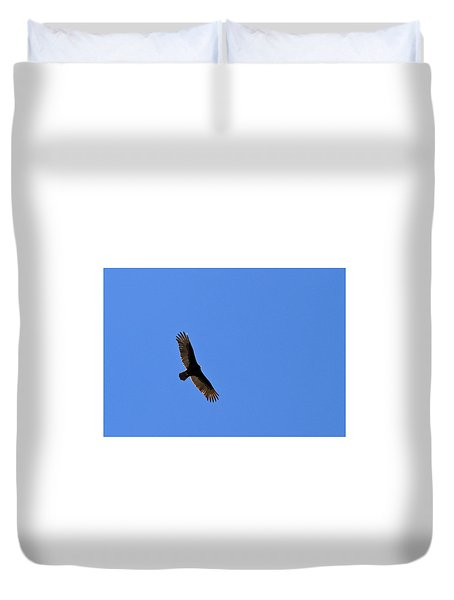 Turkey Vulture Soaring Duvet Cover