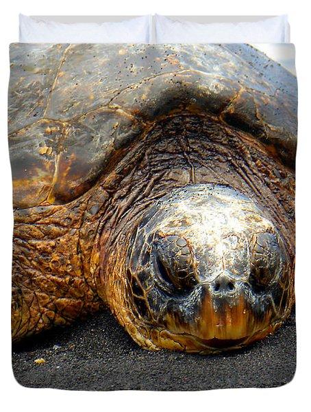 Turtle Rest Stop Duvet Cover