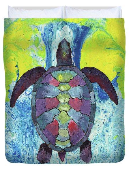 Turtle Way Duvet Cover