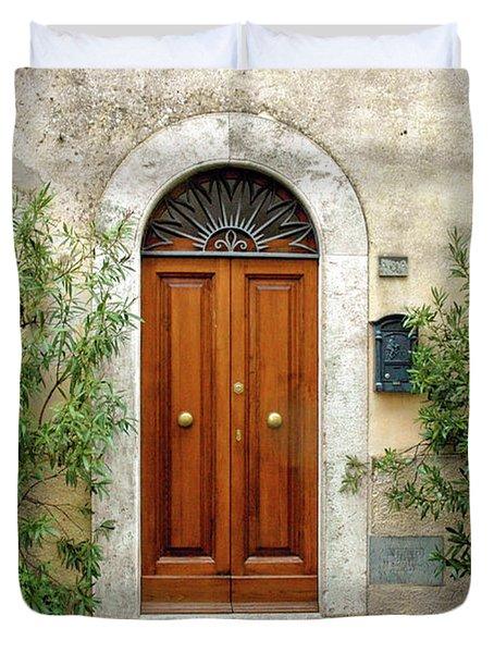 Tuscan Door Duvet Cover