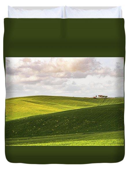 Tuscan Landscapes. Hills In The Spring Duvet Cover