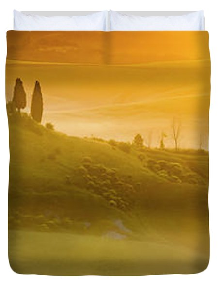 Tuscany In Gold Duvet Cover