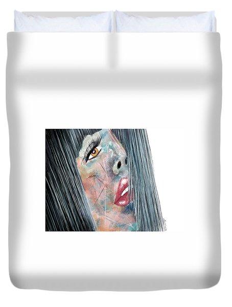 Twilight - Woman Abstract Art Duvet Cover