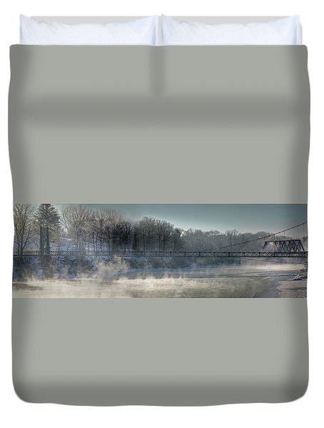 Two Cent Bridge At -5f Duvet Cover