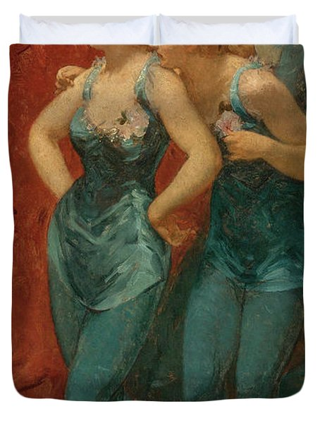 Two Dancers, 19th Century Duvet Cover
