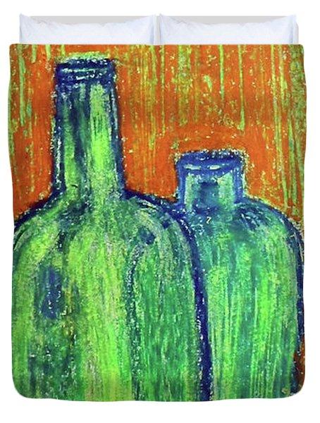 Two Green Bottles Duvet Cover