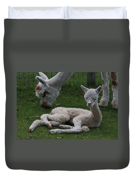 Two Hours Old Duvet Cover