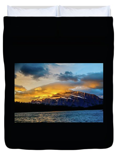 Two Jack Lake, Banff National Park, Alberta, Canada Duvet Cover