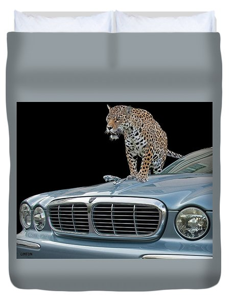 Two Jaguars 1 Duvet Cover