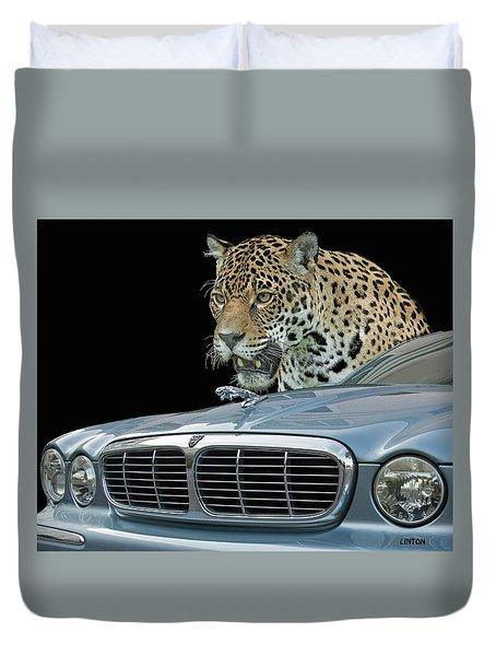 Two Jaguars 2 Duvet Cover