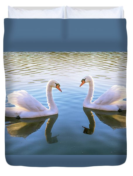 Two Of Them Duvet Cover