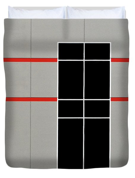 Two Red Stripes Duvet Cover