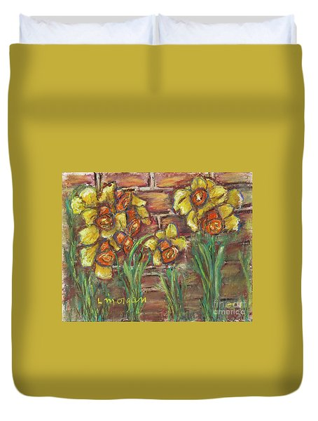 Two Toned Daffodils Duvet Cover