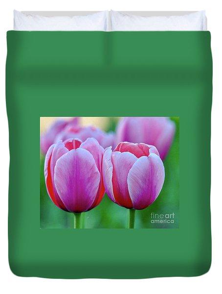 Two Tulips Duvet Cover