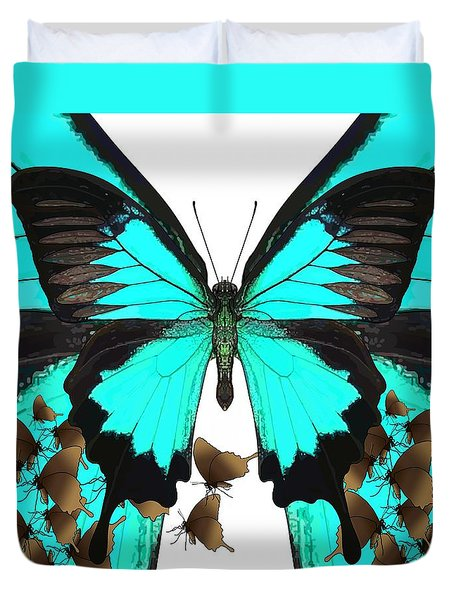 U Is For Ulysses Butterfly Duvet Cover