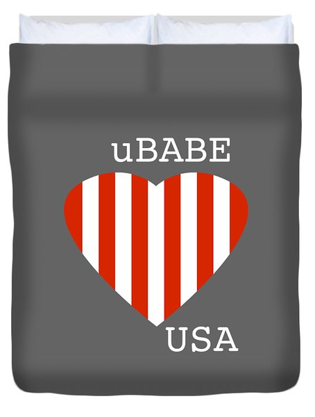 uBABE USA Duvet Cover