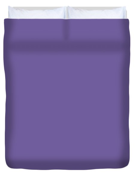 Duvet Cover featuring the mixed media Ultra  Violet - Pantone Color Of The Year 2018 by Carol Cavalaris