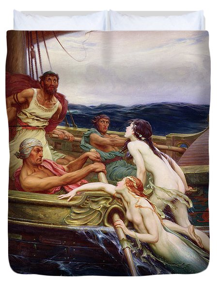 Ulysses And The Sirens, 1909 Duvet Cover