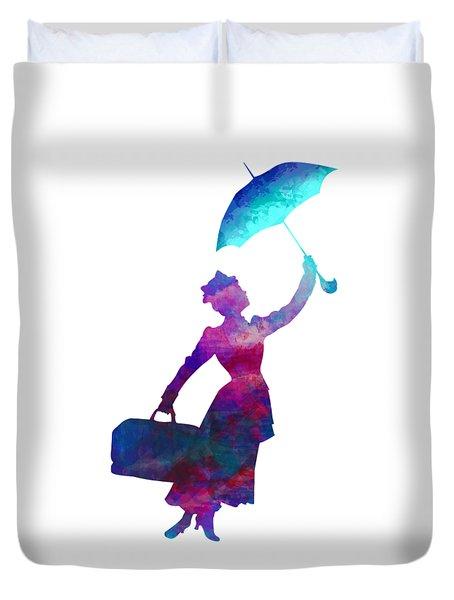 Umbrella Lady Duvet Cover