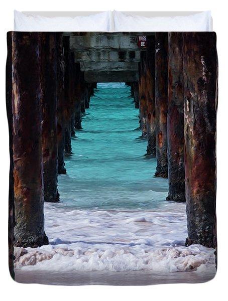 Under The Pier #3 Opf Duvet Cover