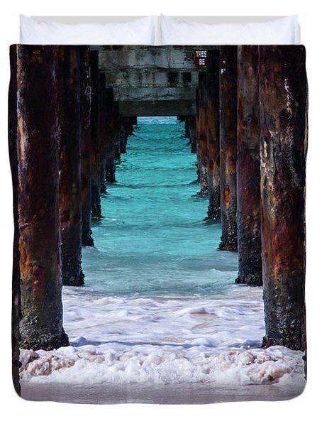 Under The Pier Duvet Cover