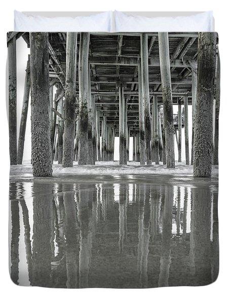 Under The Pier Sunrise Classic Duvet Cover