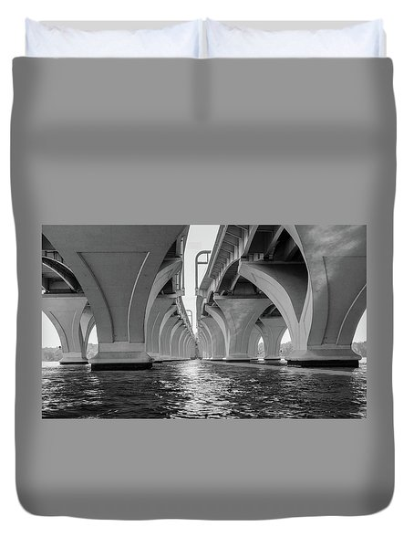 Under The Woodrow Wilson Bridge Duvet Cover