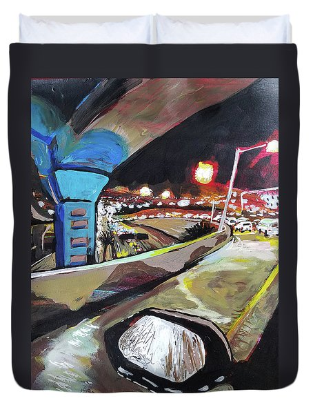 Underpass At Nighht Duvet Cover